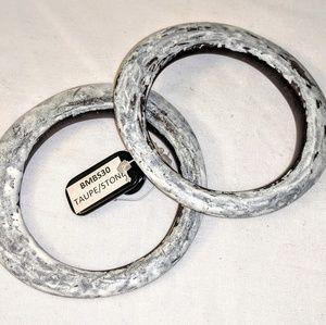 Bamboo Bracelet Set Taupe/Stone